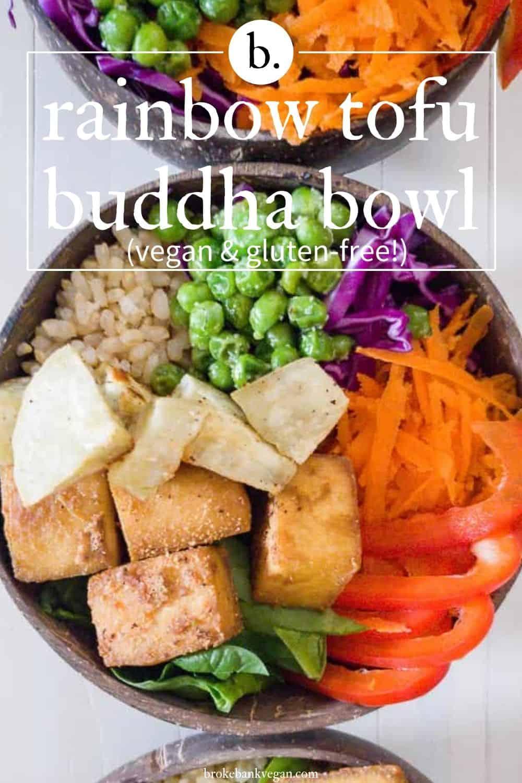 Rainbow Tofu Buddha Bowl