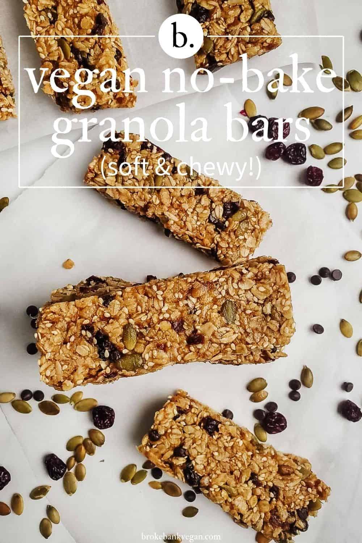 Vegan No-Bake Granola Bars