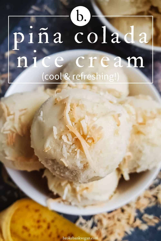 Scoops of Pineapple Nice Cream