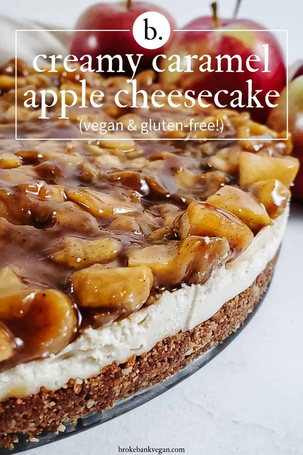 Creamy Caramel Apple Cheesecake