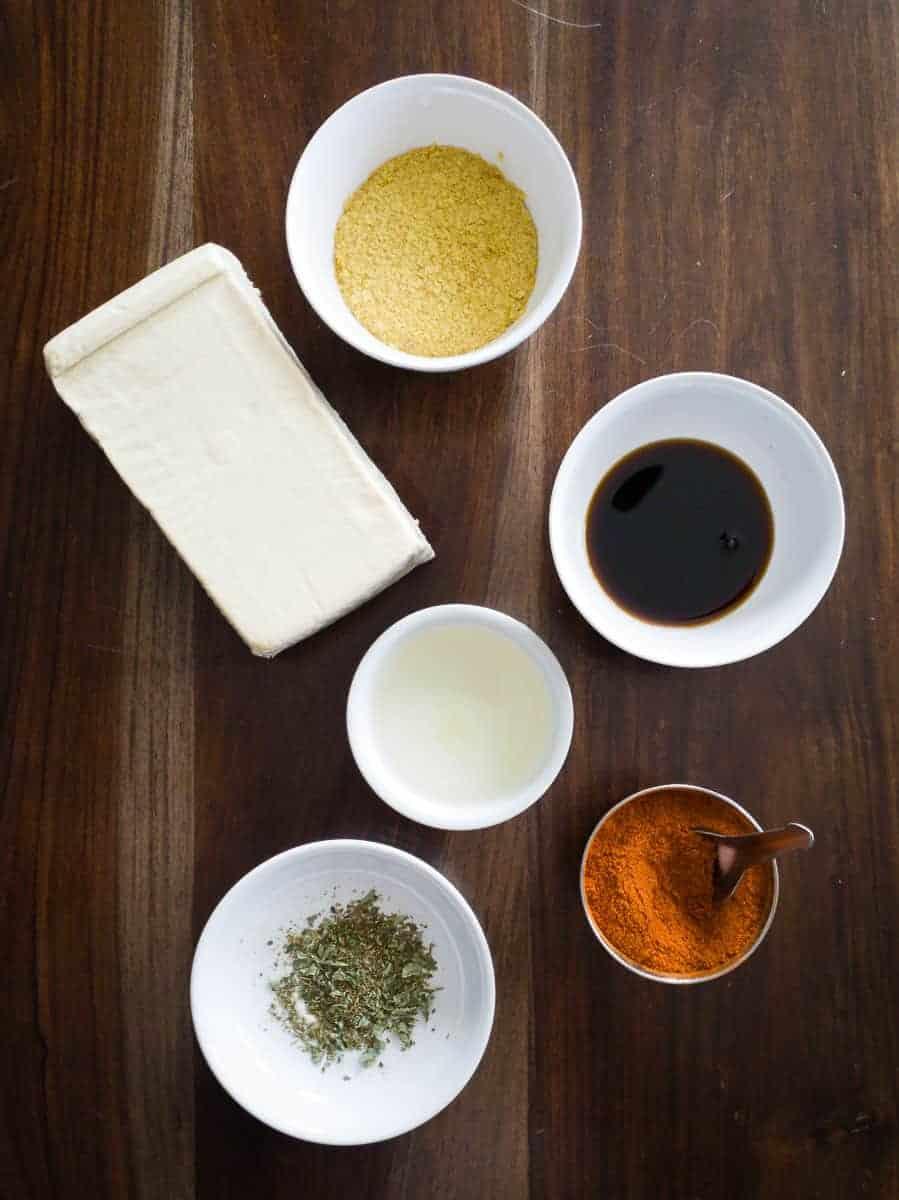 Brick Of Tofu And Seasonings