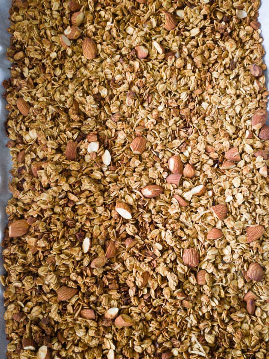 Granola On A Baking Pan