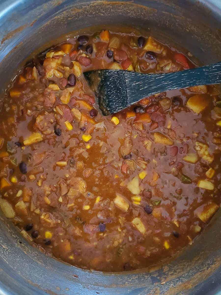 Vegan Sweet Potato & Bean Chili
