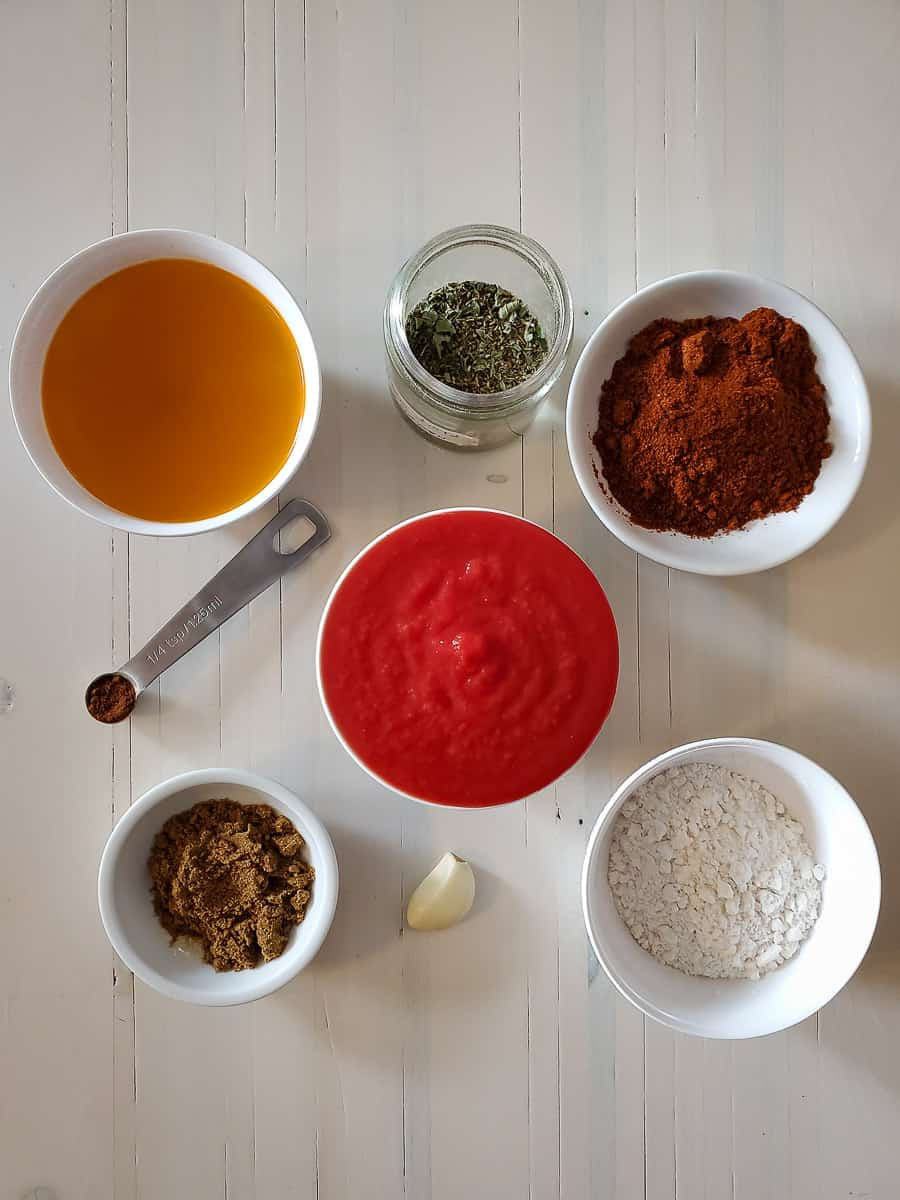 Tomato Sauce, Spices, Garlic, Flour, And Vegetable Broth
