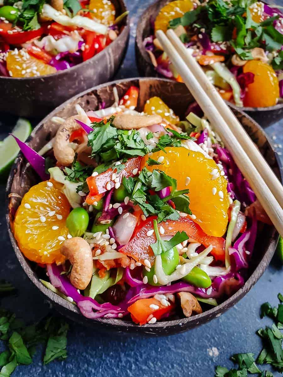 Asian Slaw With Sesame Ginger Dressing