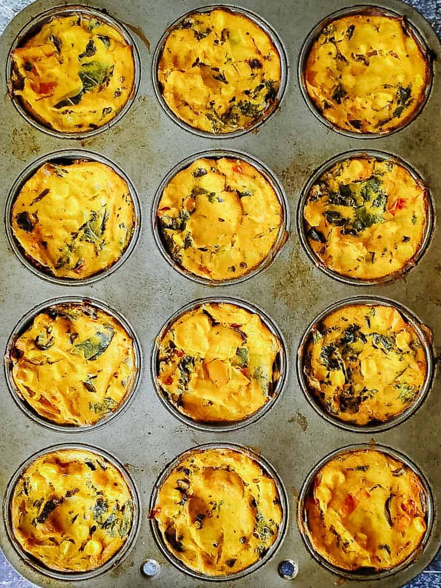 Baked Vegan Egg Cups In A Muffin Pan