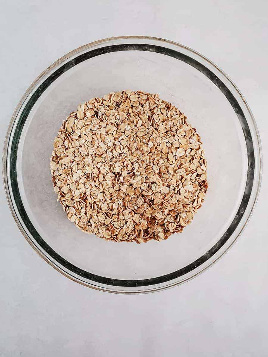 Oatmeal And Spices In A Bowl