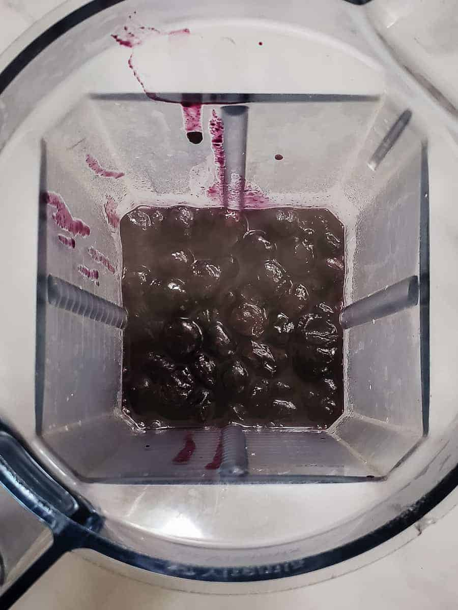 Stewed Blueberries In A Blender