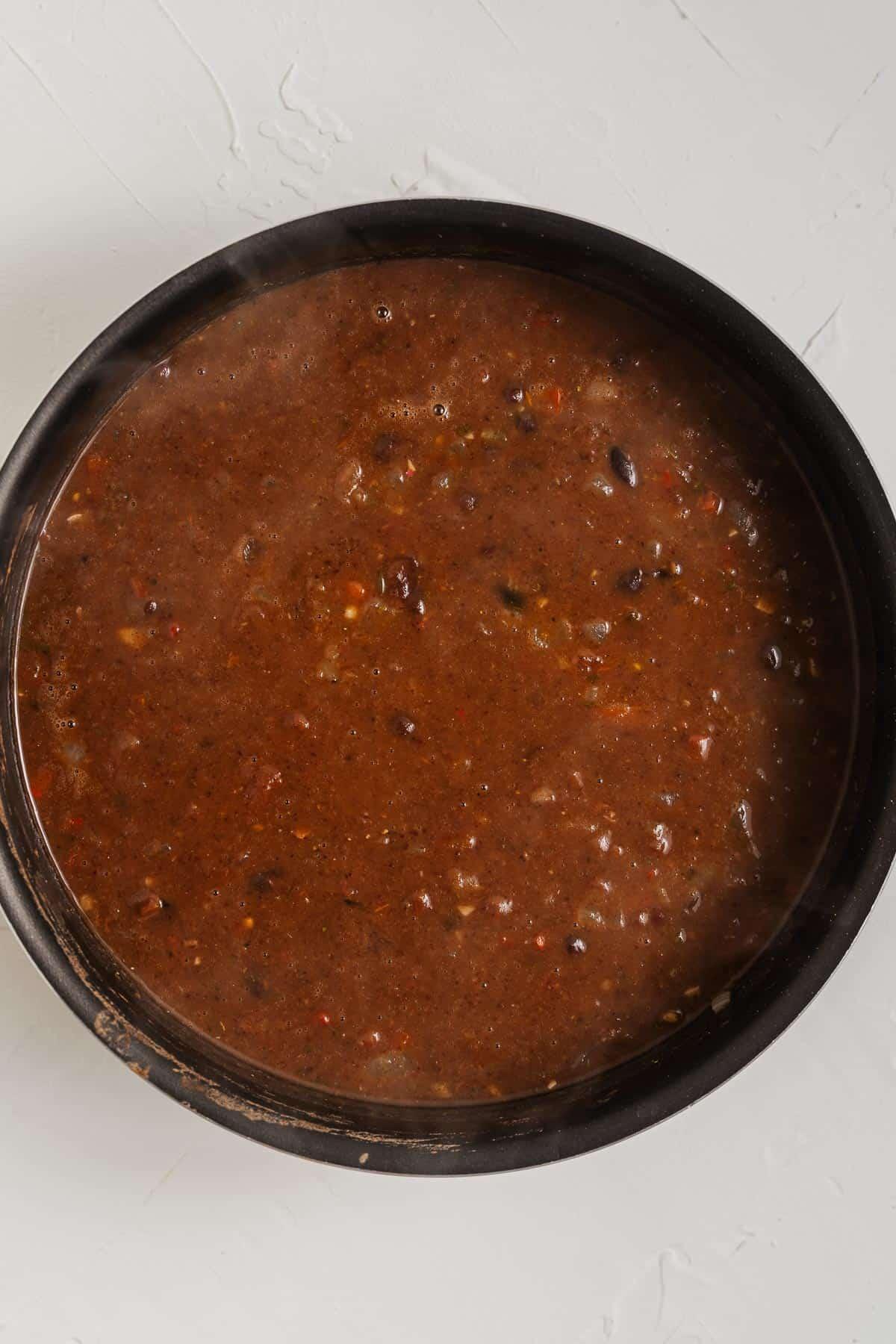 Black Bean Soup in a Pot
