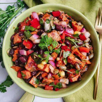 Southwest Sweet Potato Black Bean Salad