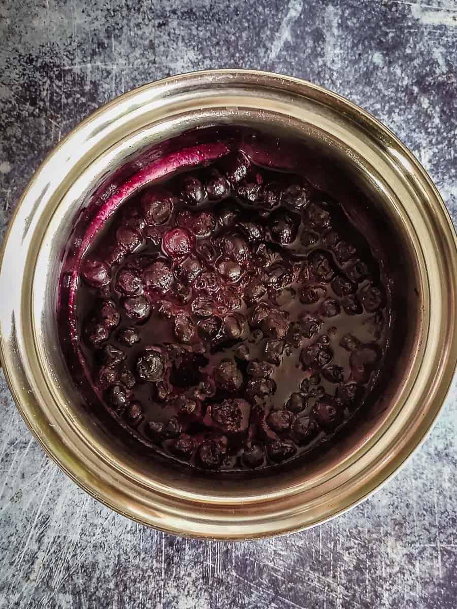 Stewed Blueberries