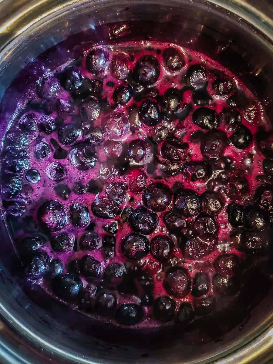 Stewed Blueberries