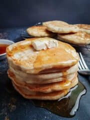Pancake Stack With Butter And Syrup