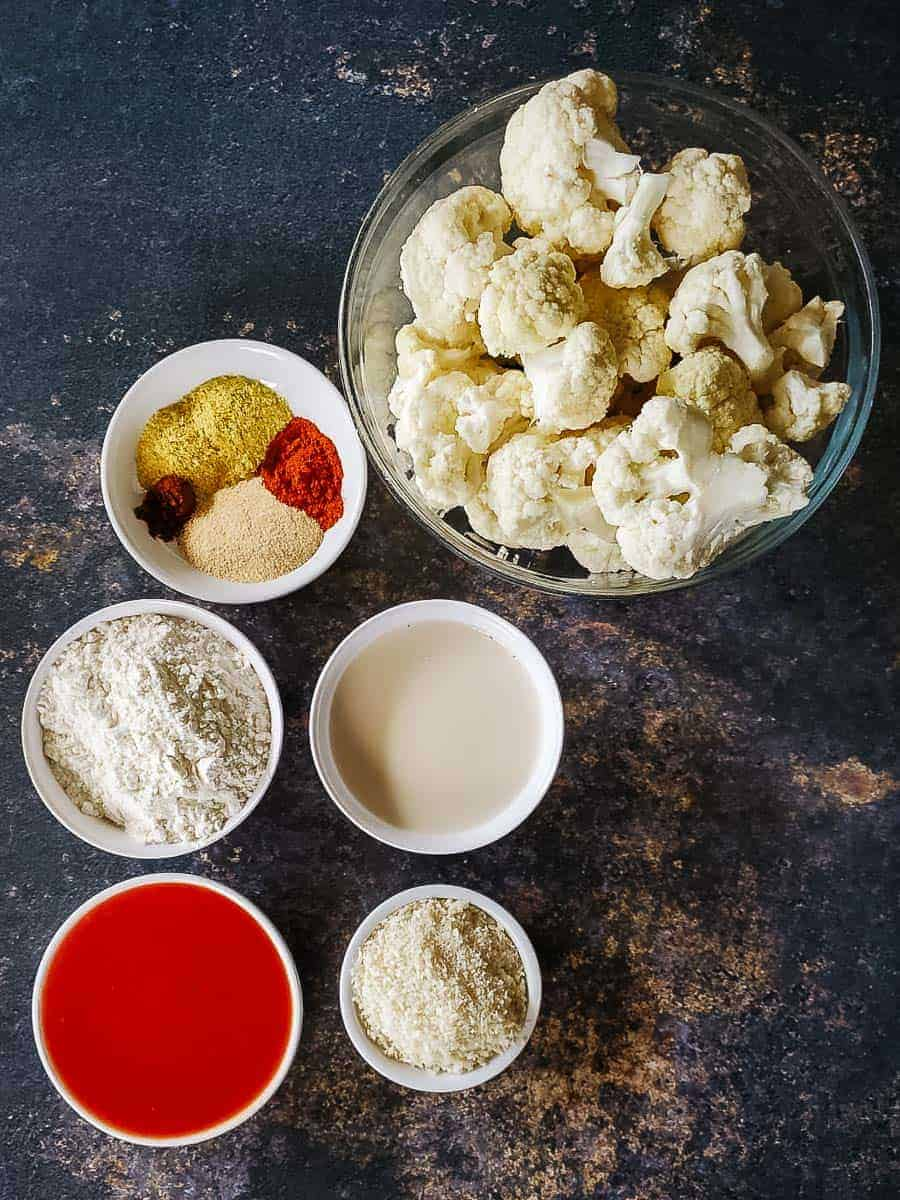 Cauliflower Florets and Seasonings