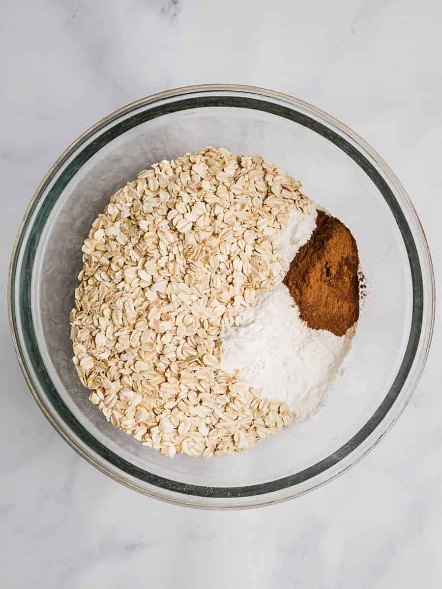 Oats, Flour, And Spices In A Bowl
