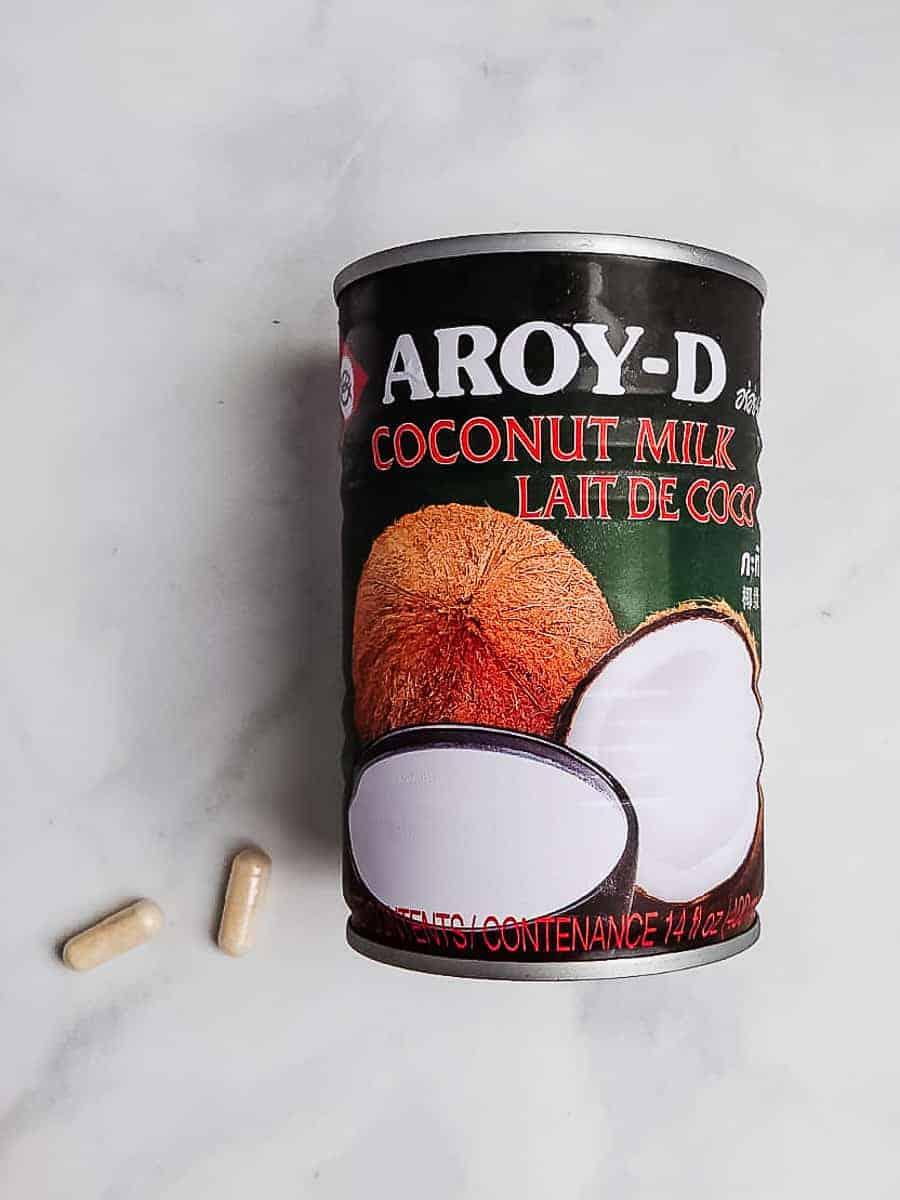 Canned Coconut Milk & Probiotics