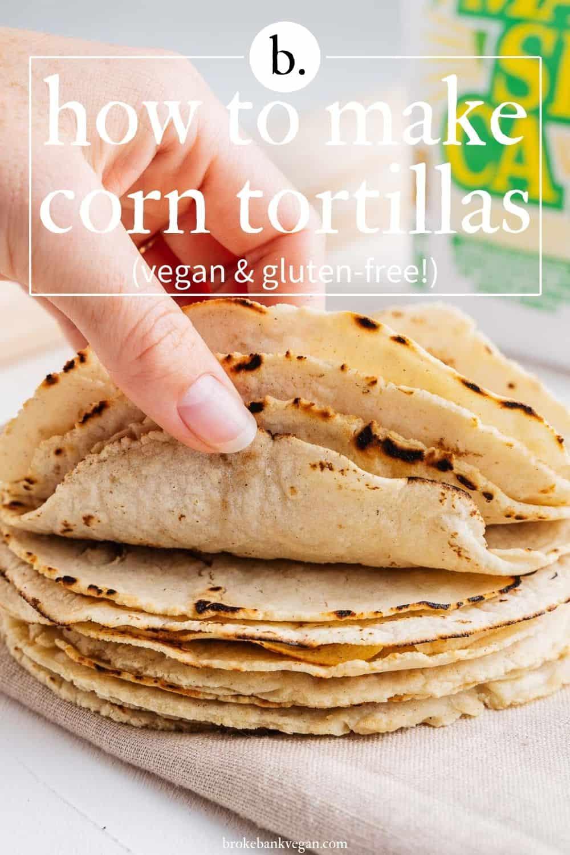 Hand Holding Corn Tortillas