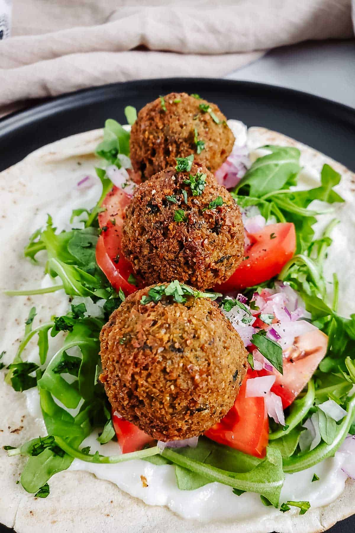 Authentic Homemade Falafel on Pita