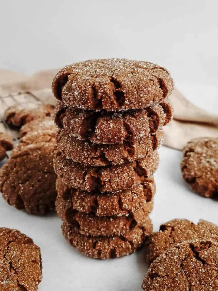 Ginger Molasses Cookie Stack