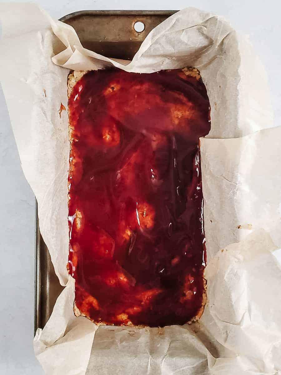 Unbaked Lentil Loaf With Glaze