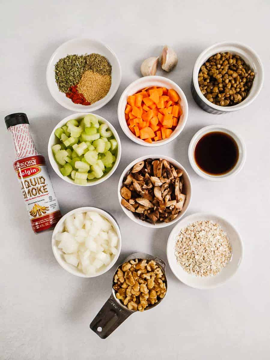Herbs, Spices, Vegetables, Walnuts, Oats, and Lentils
