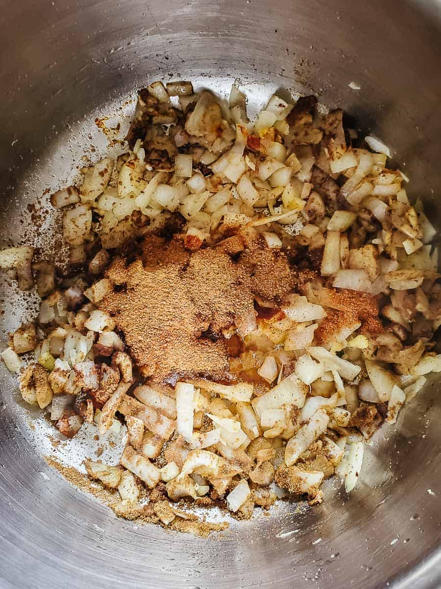 Onions & Spices In A Pot