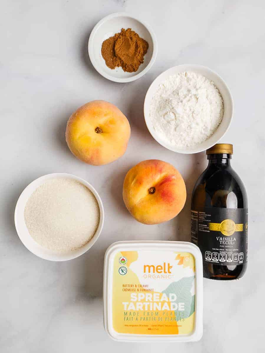 Vanilla, Peaches, Melt, Spices, Sugar, And Flour