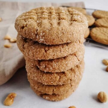 Stack Of Peanut Butter Cookies