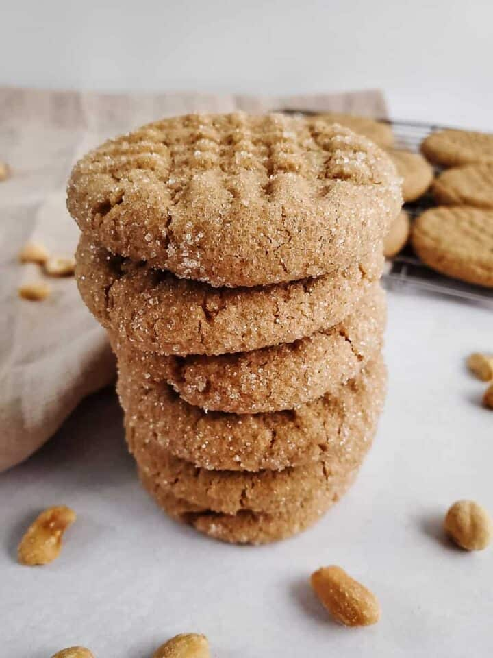 Soft & Chewy Peanut Butter Cookies (How to Make Vegan & GF)