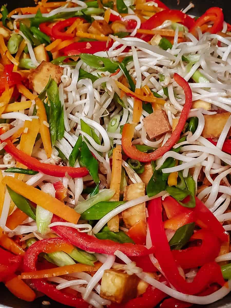 Vegetables & Tofu In A Pan