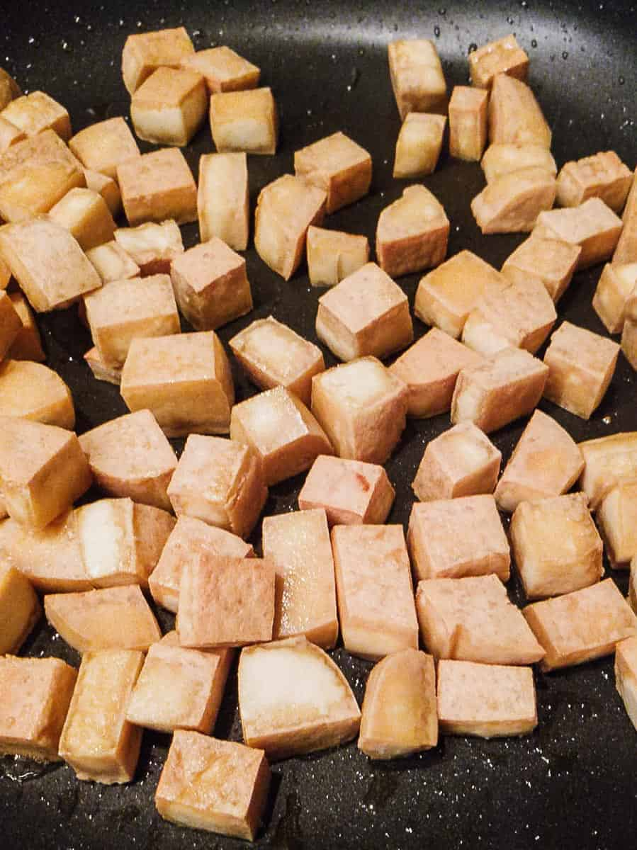 Sautéed Tofu In A Pan