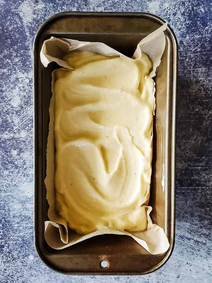 Pineapple Nice Cream In A Loaf Pan