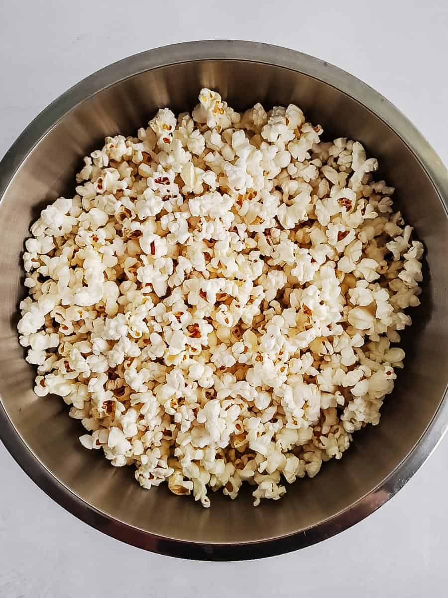 Plain Popcorn In A Bowl