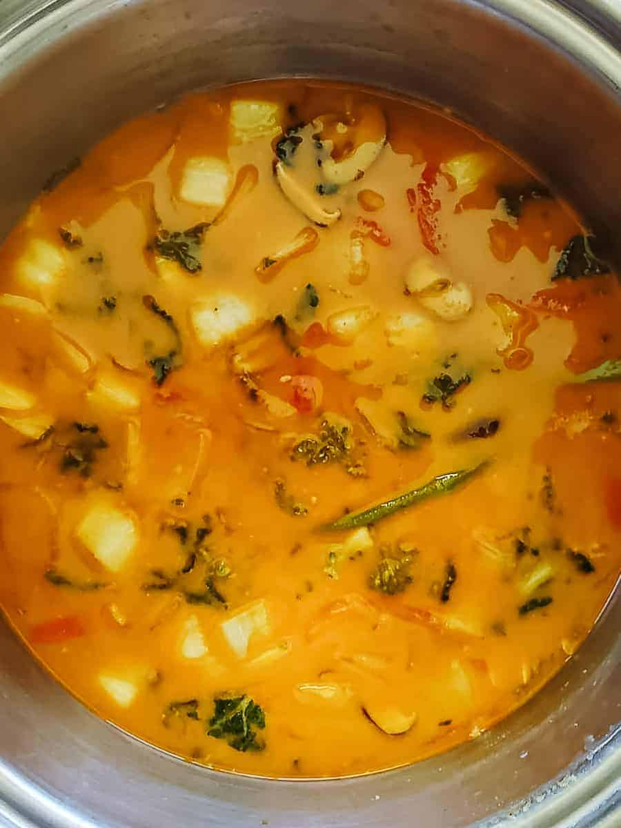 Creamy Vegetable Broth In A Pot