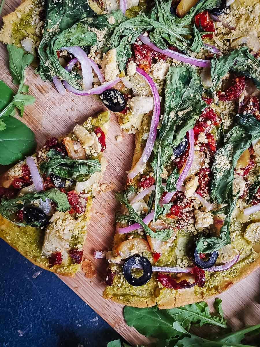 Mediterranean Socca Pizza