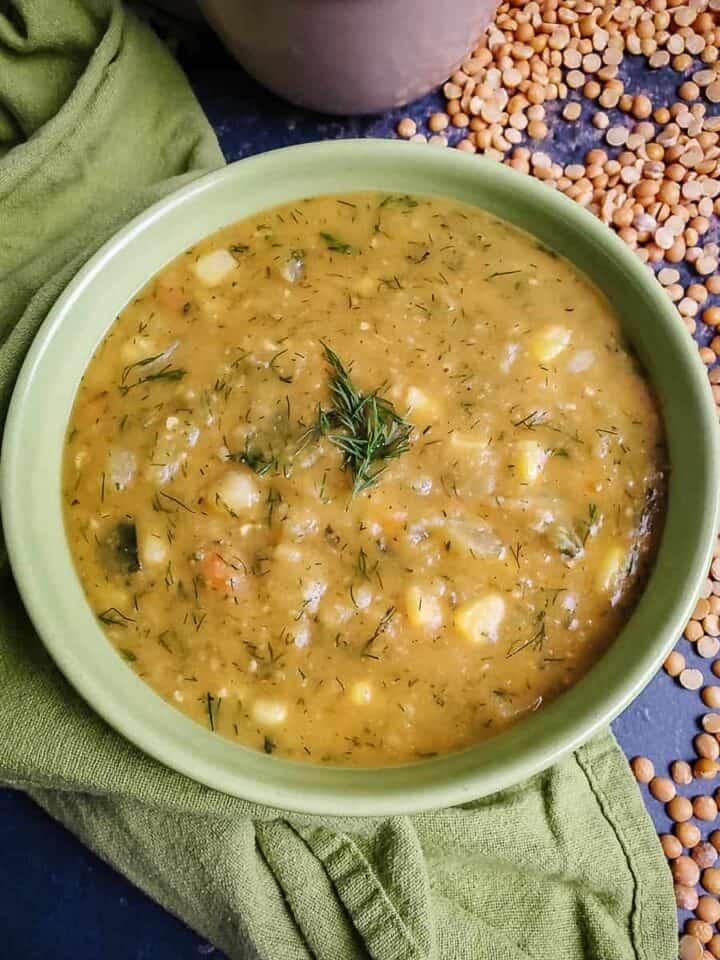 Yellow Split Pea & Sweet Potato Soup
