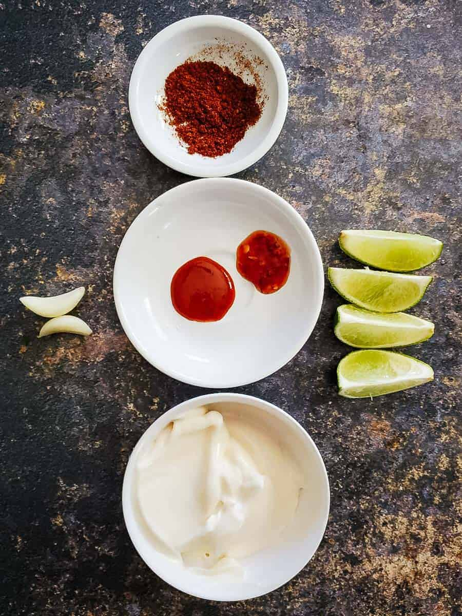 Spicy Chili Garlic Aioli Ingredients