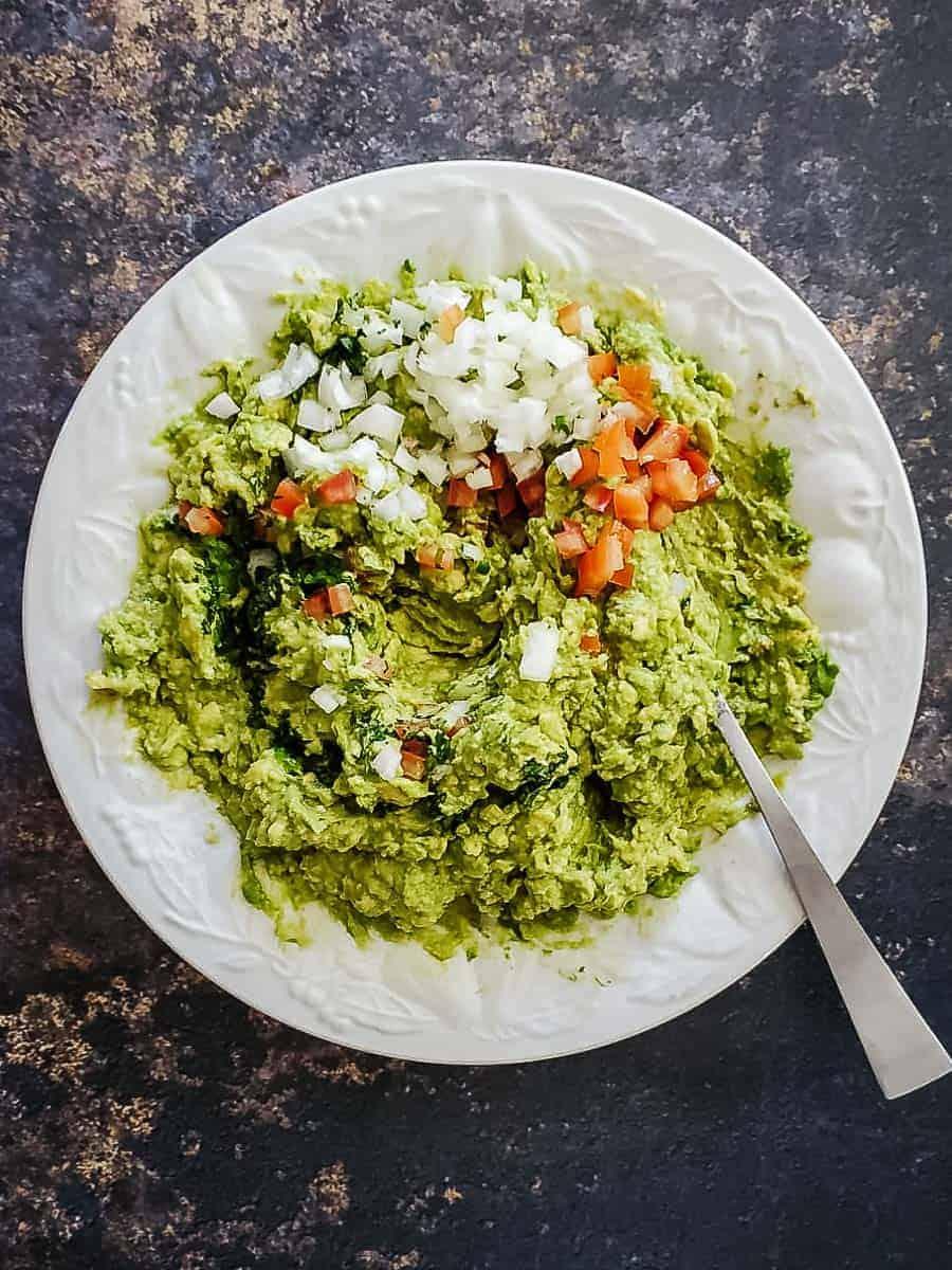 Add in the chopped veggies