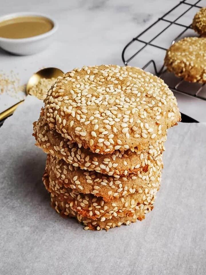 Stack Of Tahini Cookies