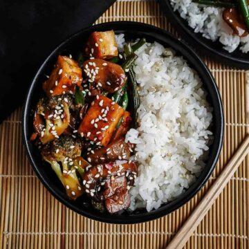 Teriyaki Tofu Vegetable Stir Fry