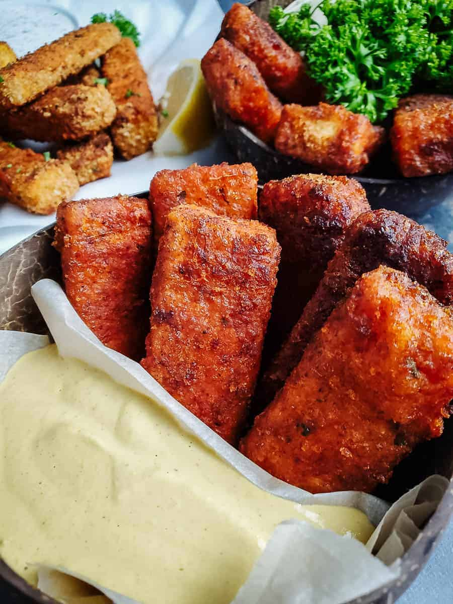 Crispy Fried Tofu Sticks With Dip