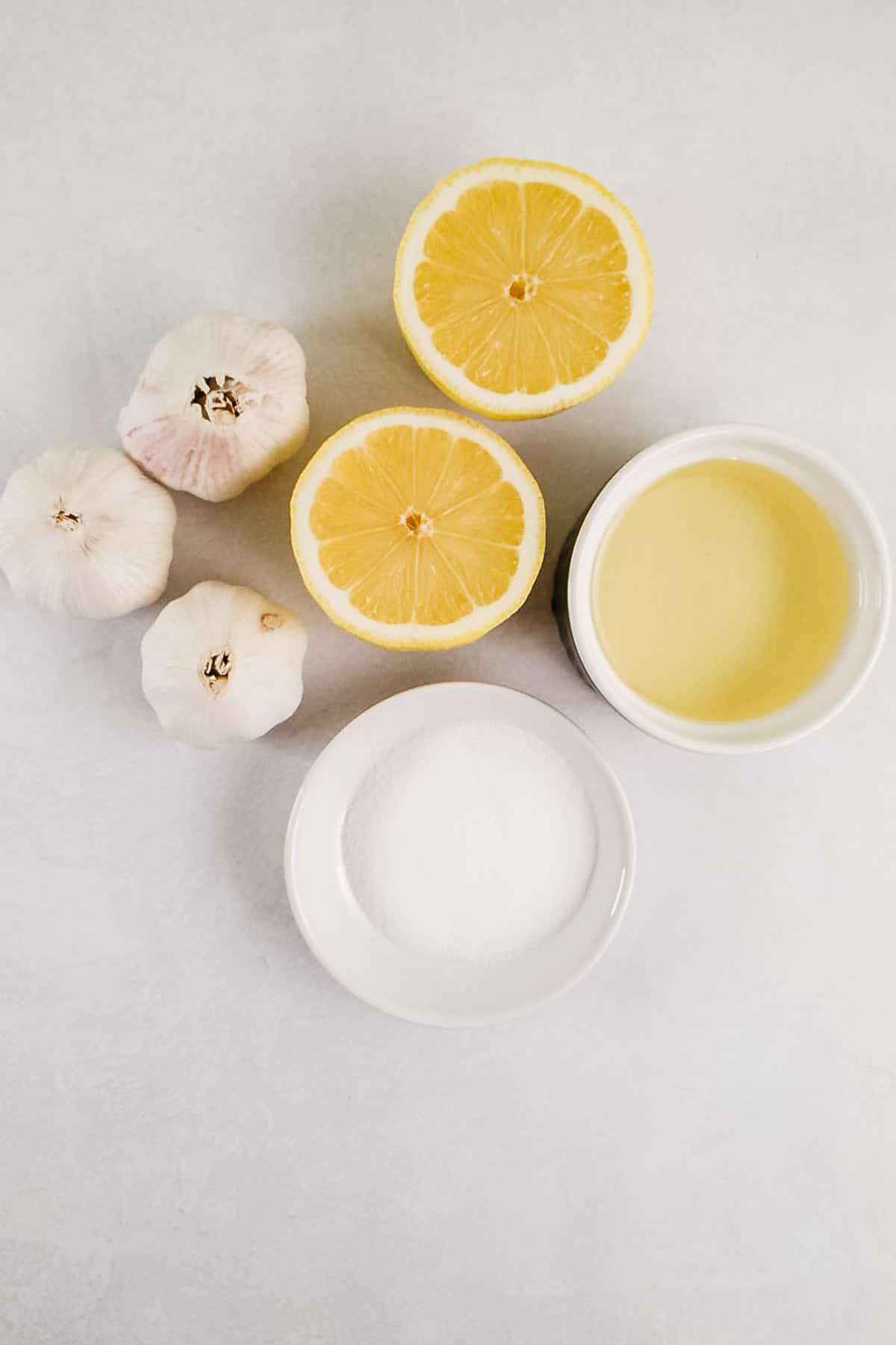 Lemons, Garlic, Oil, and Salt