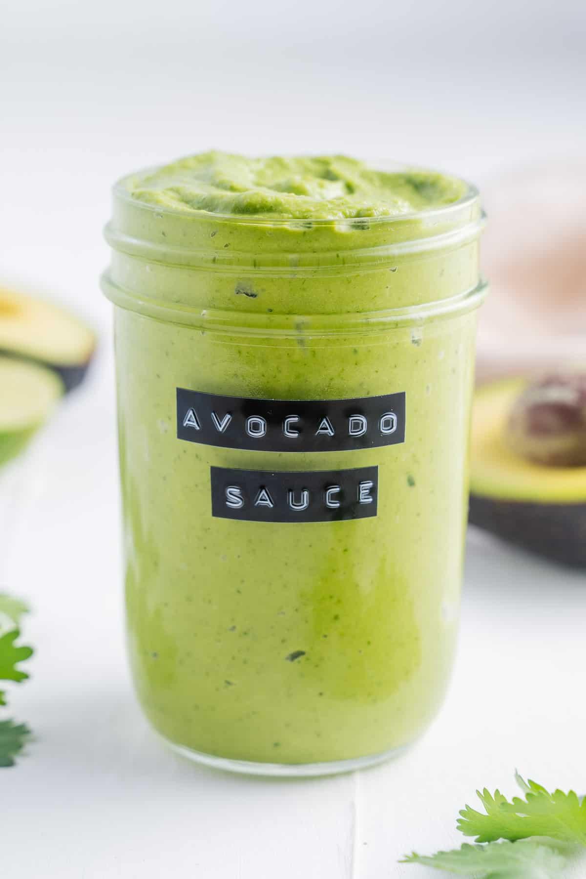 Avocado Sauce in a Jar