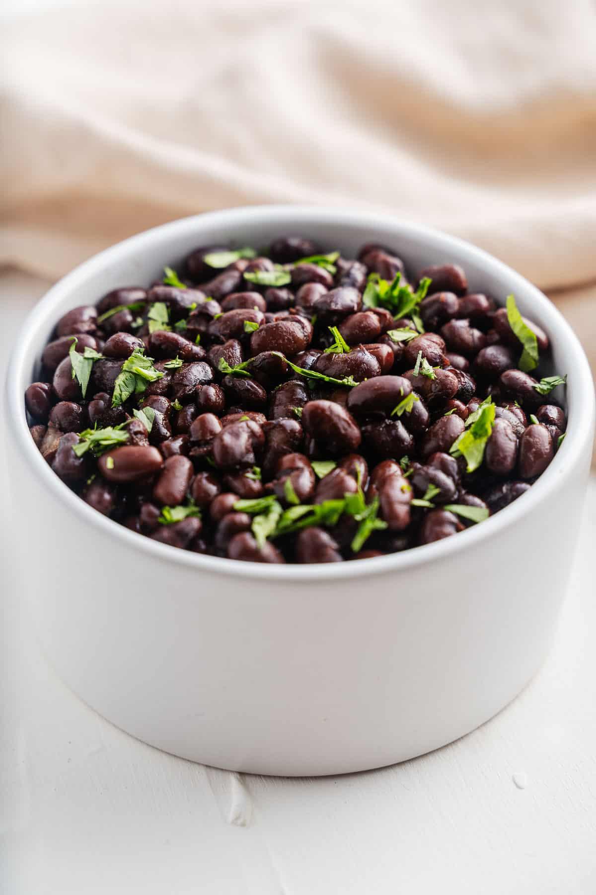 Black Beans in a Bowl With Cilantro
