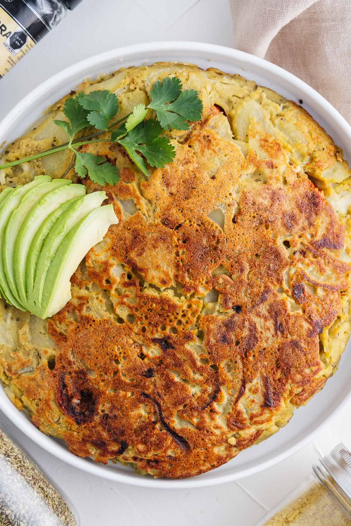 Vegan Spanish Omelette With a Fork