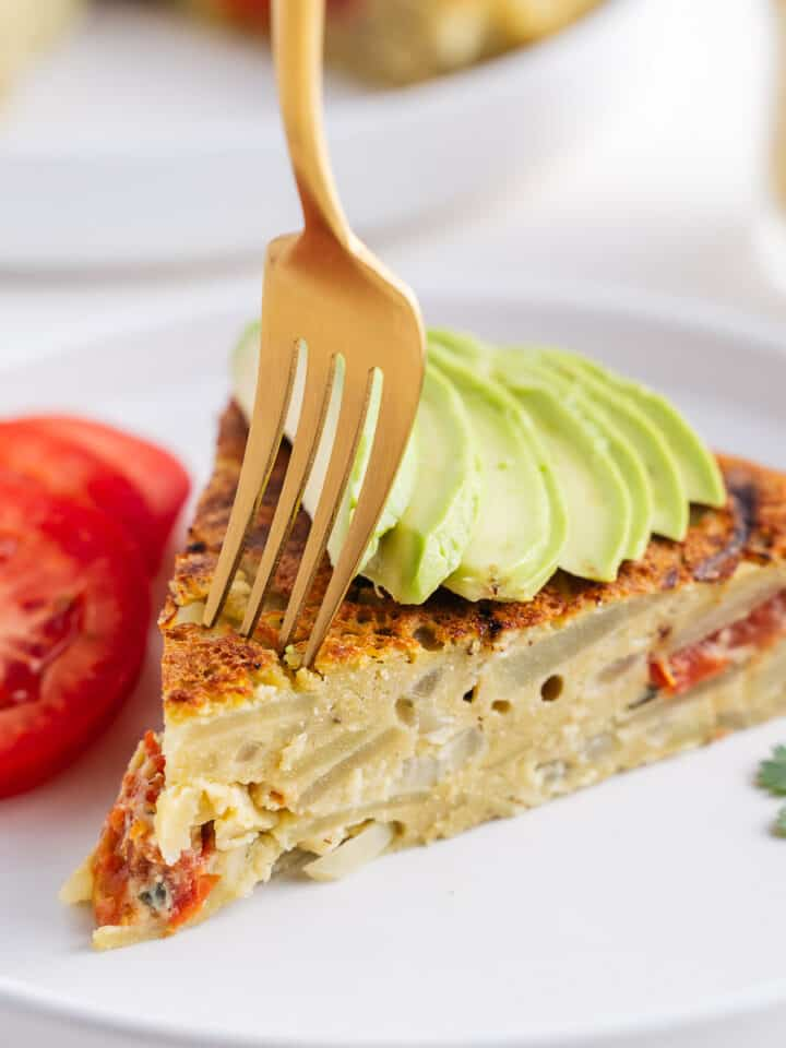 Vegan Spanish Omelette With a Fork