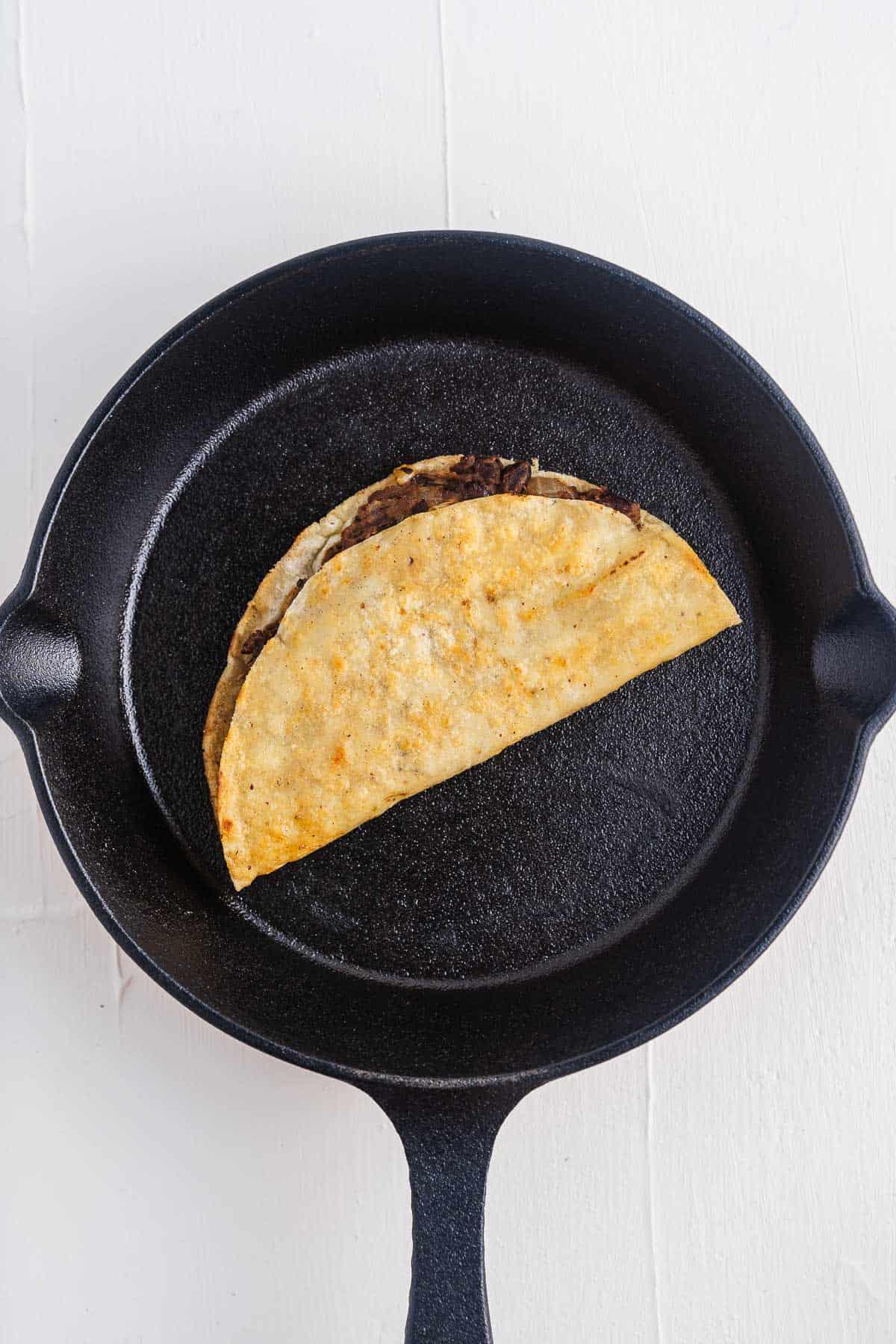 Crispy Black Bean Taco