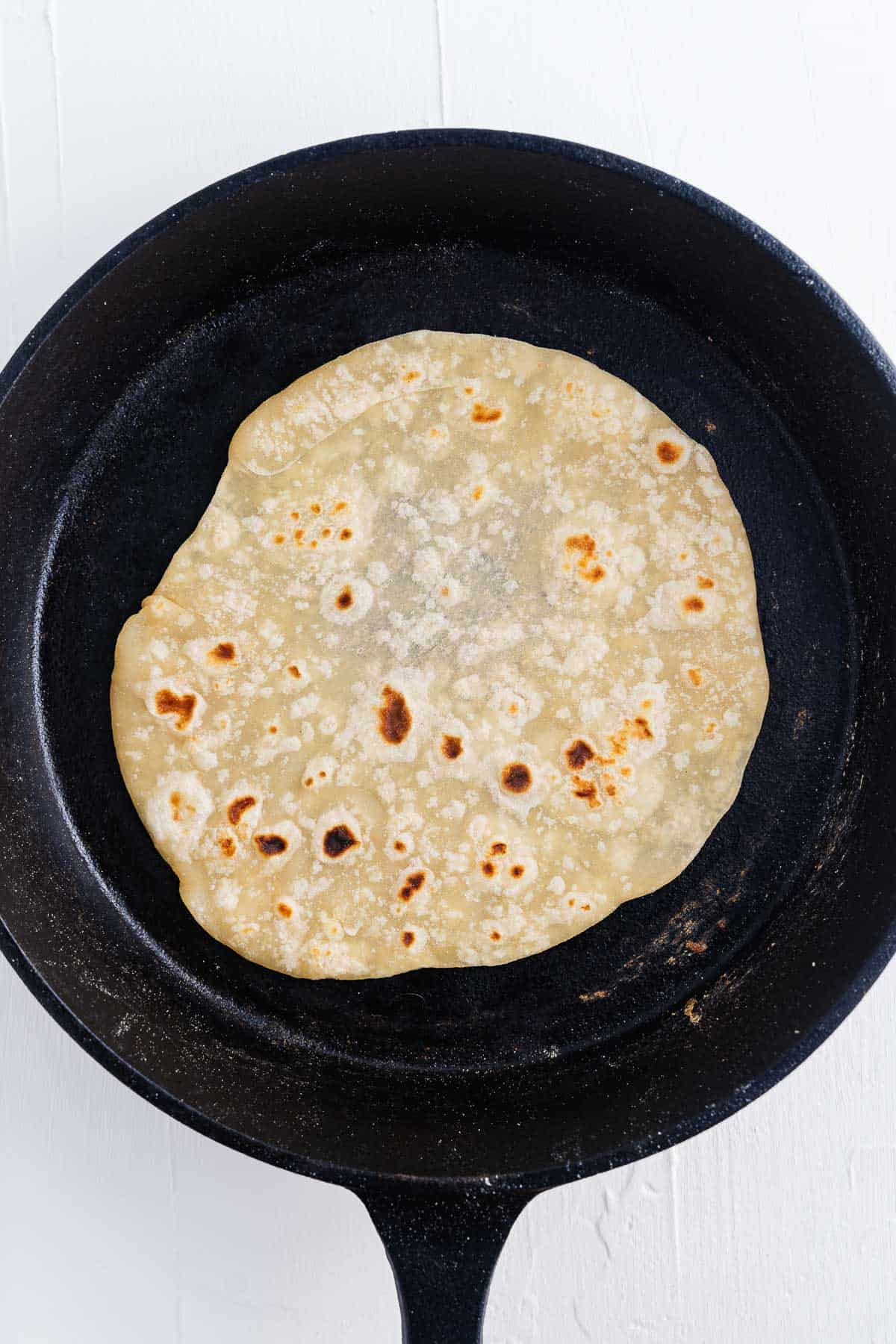 Flour Tortilla in a Skillet