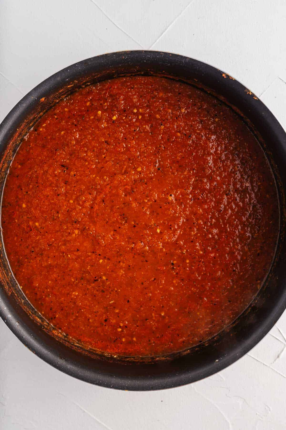 Salsa Roja in a Pot