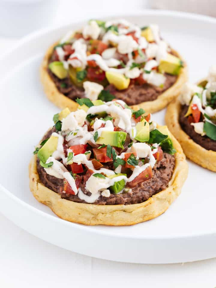 Sopes on a Plate